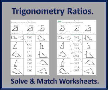 Trigonometry Ratios Activity Worksheets | Trig