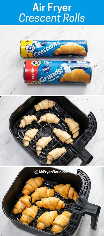 Air Fryer Crescent Rolls Dough Canned Refridgerated   Air Fryer World