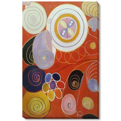 Latitude Run Group Iv The Ten Largest No 3 Youth By Hilma Af Klint Painting Print On Canvas Format Gal In 2020 Gallery Wrap Canvas Hilma Af Klint Giclee Print