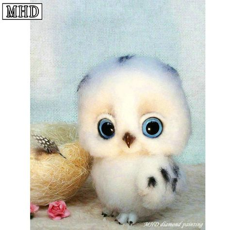 """Find More Diamond Painting Cross Stitch Information about Full square drill 5D DIY Diamond Painting """"Little Owl"""" Diamond Cross Stitch 3D Mosaic Embroidery Decorative Sticker SD28,High Quality Diamond Painting Cross Stitch from Shop3615085 Store on Aliexpress.com"""