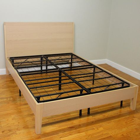 Hercules King Size 14 In H Heavy Duty Metal Platform Bed Frame 125001 5060 The Home Depot Bed Frame Mattress