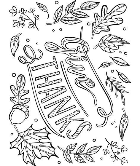Give Thanks Placemat Coloring Page Crayola Com Fall Coloring