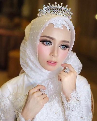 Tutorial Jilbab Akad Nikah Syari Di 2020 Pengantin