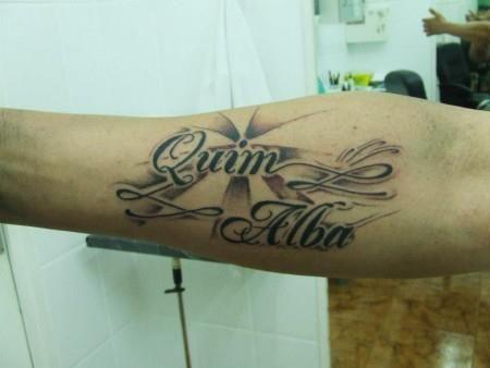 tatuajes 2 nombres