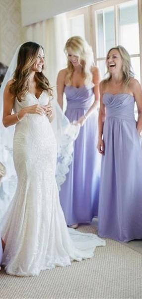 Purple Sweetheart Sleeveless Chiffon Long Bridesmaid Dresses Online, WG807#bridesmaids #bridesmaiddress #bridesmaiddresses #dressesformaidofhonor #weddingparty #2020bridesmaiddresses
