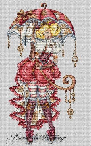 Snow Maiden Lady Fantasy Craft cross stitch pattern Counted cross stitch pattern PDF Cross chart