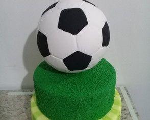 Bolo Fake Futebol Com Imagens Futebol Biscuit Bolo