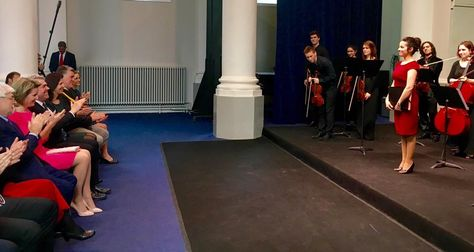 Queen Mathilde paid a visit to the IMEP, Institut Superieure de Musique et de Pedagogie in Namur
