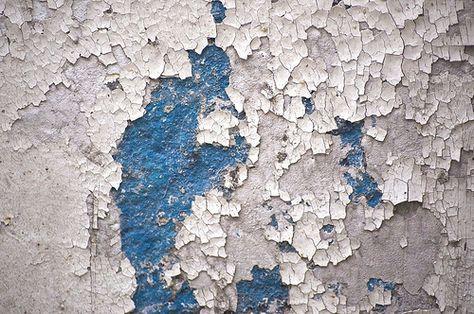 peeling blue paint