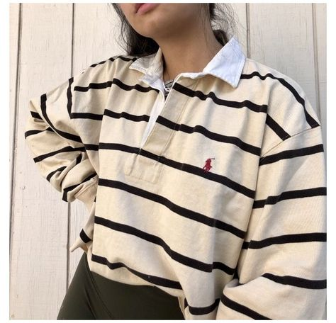 Cute Casual Outfits, Retro Outfits, Vintage Outfits, Long Sleeve Outfits, Long Sleeve Polo, Long Sleeve Rugby Shirts, Polo Shirt Outfit Women's, Ralph Lauren Womens Clothing, Mode Ootd