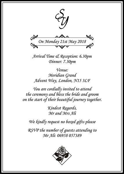 Muslim Wedding Invitation Wordings Islamic Wedding Card Matter Muslim Wedding Invitations Wedding Cards Islamic Wedding