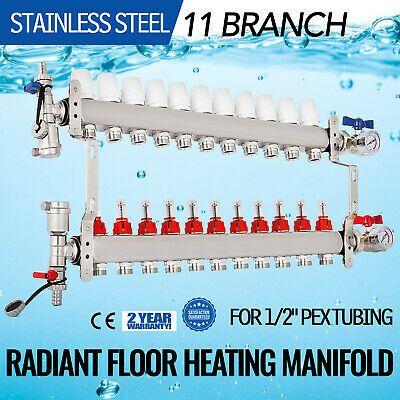 Ad Ebay Url 11 Branch 1 2 Pex Radiant Floor Heating Manifold Leak Proof Vertical Horizontal In 2020 Radiant Floor Heating Radiant Floor Pex Tubing