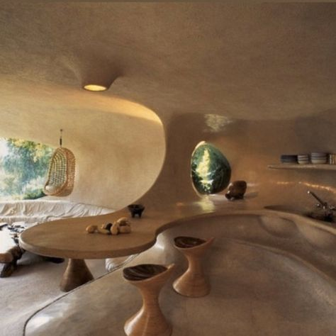 "𝒸𝒽𝒶𝓁𝓊𝓀𝓎𝒶 on Twitter: ""the organic house by javier senosiain, built in 1985… "" Organic Architecture, Interior Architecture, Pavilion Architecture, Residential Architecture, Contemporary Architecture, Dream Home Design, House Design, Bubble House, Earthship Home"