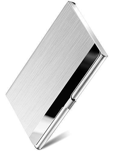 Maxgear Metal Business Card Holder For Men Women Pocket Business Card Case Slim Business C Metal Card Holder Metal Business Cards Leather Business Card Case