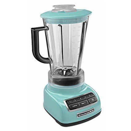 Kitchenaid Ksb1575aq Aqua Sky 5 Speed 60 Ounce Diamond Blender Review Kitchen Aid Blender Immersion Hand Blender