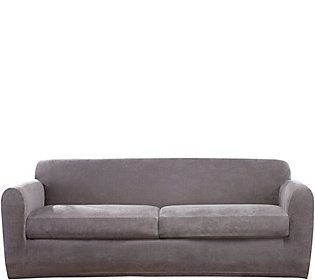 Sofa Table Sure Fit Stretch Chenille Cushion Sofa Slipcover
