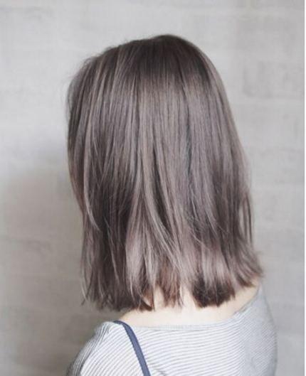 Ash Grey Rambut Pendek