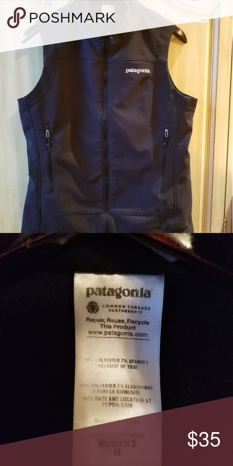 Patagonia vest Patagonia Polartech, windblock, black vest. Size Medium.   Pre owned. Like new condition. Jackets & Coats Vests