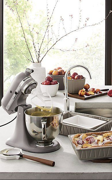 Kitchenaid Artisan Cast Iron Black Stand Mixer Reviews Crate And Barrel In 2020 Kitchen Aid Kitchenaid Artisan Stand Mixer