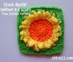 Stash-Busting Sunflower Square free