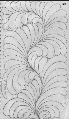 LuAnn Kessi: Quilting Sketch Book....Feathers Filling Space