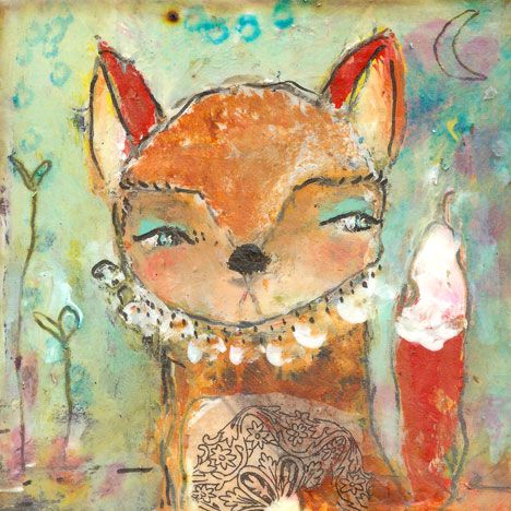 Items similar to Fox Art - See Possibility - inch Print of a Reproduction of the Original Painting by Juliette Crane on Etsy