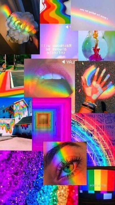 Asthetic Wallpaper - Rainbow 🌈 - Wattpad