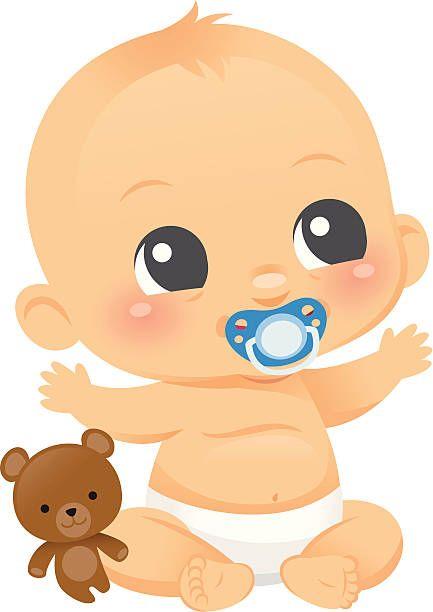 Cute Baby Boy Vector Art Illustration Baby Illustration Boy Cartoon Drawing Baby Cartoon
