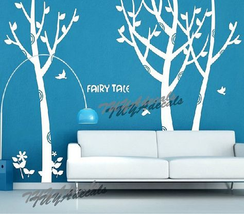 wall decal Vinyl Wall Decal Nature Design Tree Wall Decals chrildrens wall decals Wallstickers Tree with birds wall decal :fairy tale