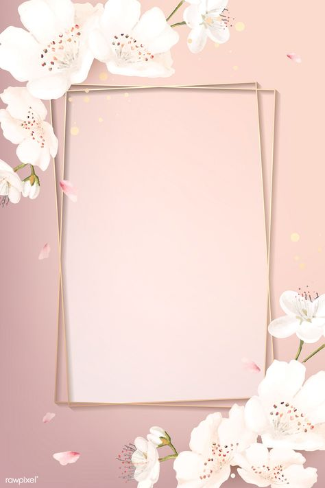 Rectangle cherry blossom frame vector | premium image by rawpixel.com / wan