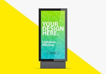 Vertical Lightbox Mockup Affiliate Vertical Lightbox Mockup Ad Infographic Design Layout Modern Branding Logo Light Box