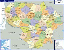 Politicheskaya Karta Litvy Litva Gorod I Geografiya