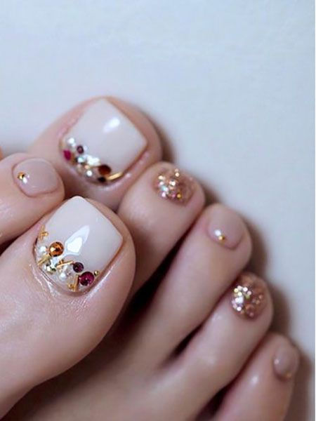 20 Trending Winter Nail Colors Design Ideas For 2020 Pretty Toe Nails French Toe Nails Toe Nail Designs