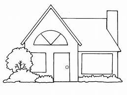 Mud Houses In Clipart Black And White Yahoo Image Search Results House Clipart Home Art Cute House