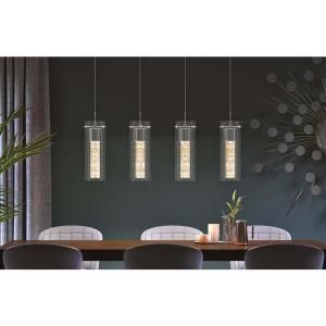 Artika Essence 27 Watt Chrome Integrated Led Pendant Ome59b Hd2d