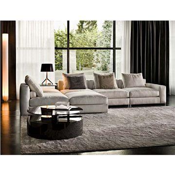 Minotti Jagger High Back and Slim Armrest Sectional Sofa ...