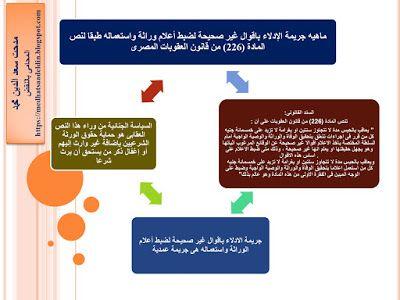 مدحت سعد الدين محمد المحامى بالنقض ماهيه جريمة الإدلاء باقوال غير صحيحة لضبط أعلام ور