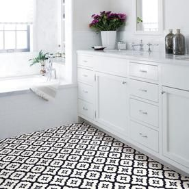 Floorpops 20 Piece 12 In X 12 In Black Peel And Stick Vinyl Tile Lowes Com Peel And Stick Floor Self Adhesive Floor Tiles Adhesive Floor Tiles