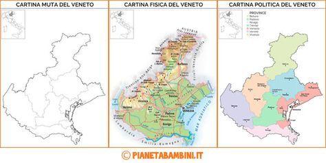 Cartina Fisica E Politica Del Piemonte.Cartina Muta Fisica E Politica Del Veneto Da Stampare