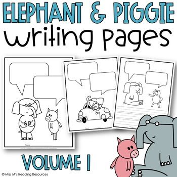 Elephant and Piggie by Miss M's Reading Resources First Grade Themes, First Grade Writing, Library Activities, Sequencing Activities, Reading Resources, Kindergarten Lessons, Art Lessons Elementary, Writer Workshop, Readers Workshop