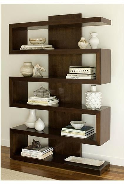 Unique Contemporary Divider European Home Decor Bookcase Design Shelves