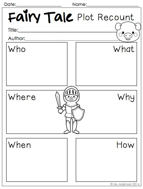 Fairy Tale Printables To Be Used With Any Fairy Tale Fairy Tales Unit Fairy Tale Activities Fairy Tales