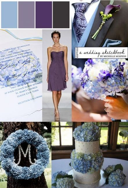 Wedding Purple Gray Blue 70 Ideas Wedding Inspiration In 2019