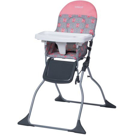 Cosco Simple Fold Full Size High Chair With Adjustable Tray Stencil Walmart Com In 2020 High Chair Folding High Chair Cosco
