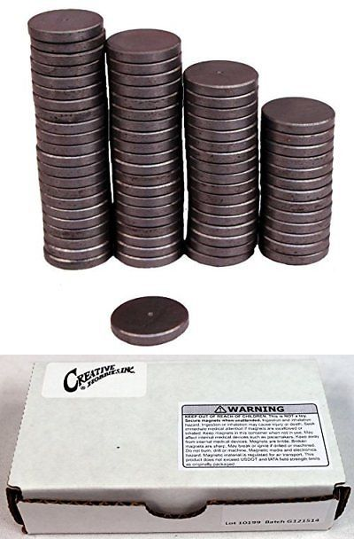 All Purpose Craft Supplies 31742 Creative Hobbies Ceramic Industrial Magnets 1 Inch 25mm Round Disc Creative Hobbies Industrial Magnets Ceramics