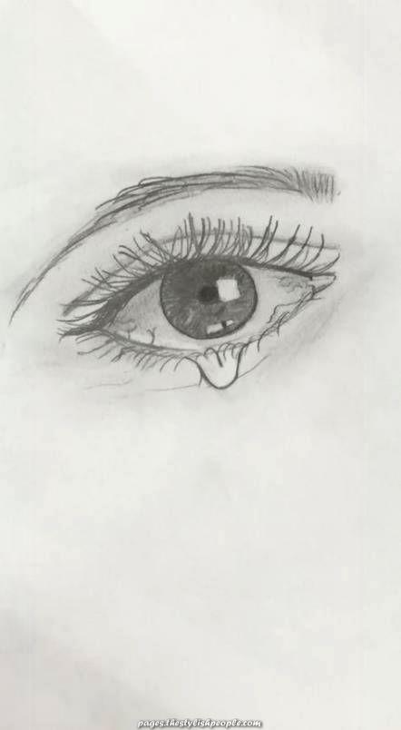 Sad Eyes Drawing : drawing, Beautiful, Fashionable, Drawing, Tutorial, Crying, Eyes,, Sketch,