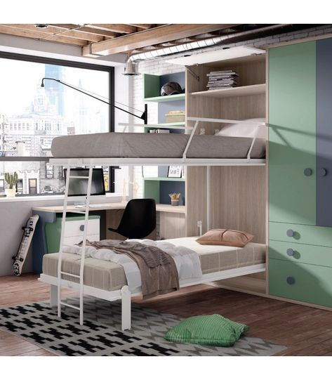 Automática Space Saving Furniture Literas Literas Abatibles