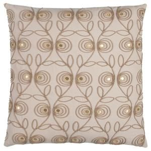 Donny Osmond Home Beige Floral Polyester 20 In X 20 In Throw Pillow Doht12329be002020 The Home Depot Cotton Throw Pillow Throw Pillows Rizzy Home