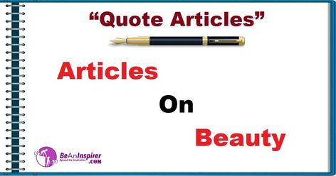 Articles on Beauty [Quote Articles]