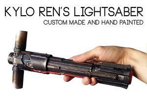 Kylo Ren Lightsaber Hilt Replica Prop Star Wars The Force Awakens Kylo Ren Lightsaber Lightsaber Hilt Force Awakens